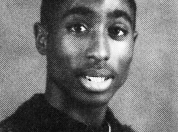 Tupac Shakur school picture before he was famous
