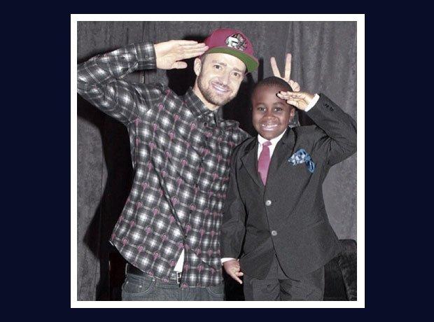 Justin Timberlake meeting Kid President