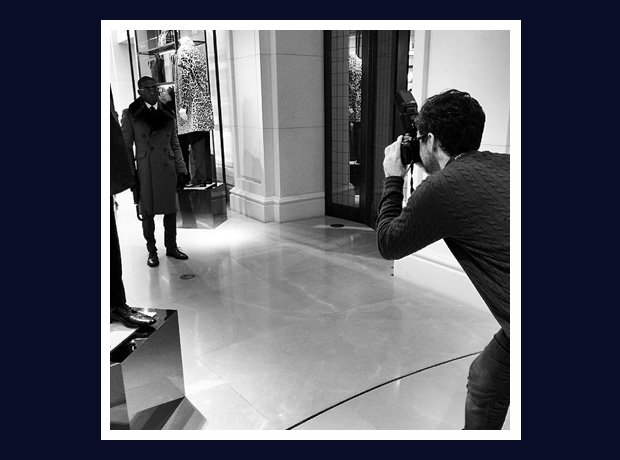 Tinie Tempah Burberry photoshoot
