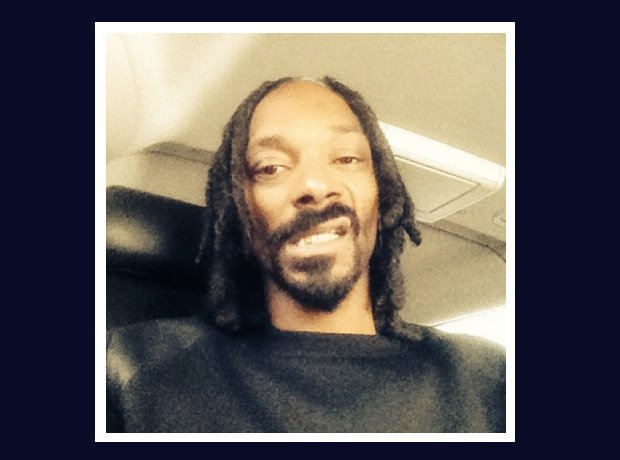 Snoop Dogg selfie on a plane