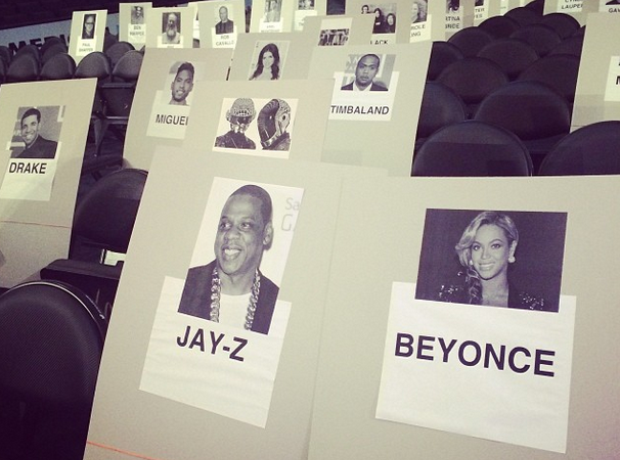 Grammys seating plan