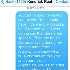 Macklemore Text MEssage