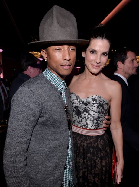 Pharrell and Sandra Bullock