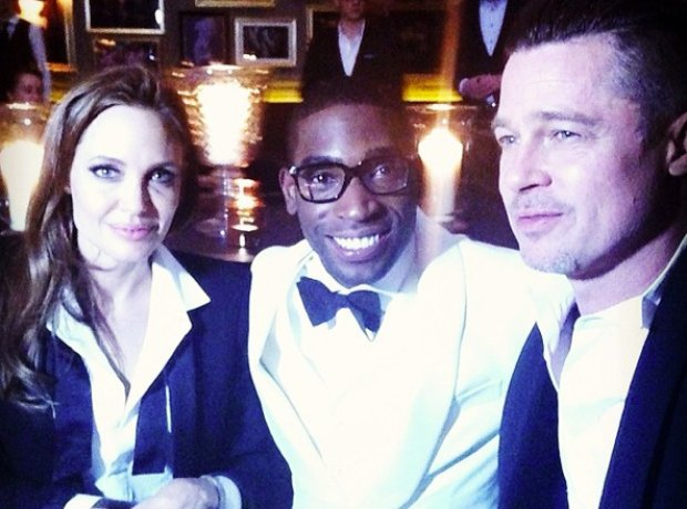 Tinie Tempah, Angelina Jolie and Brad Pitt