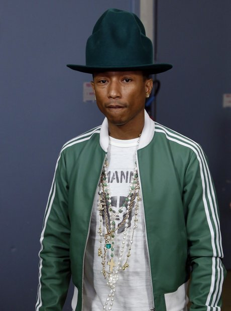 Pharrell Williams with another hat in Paris