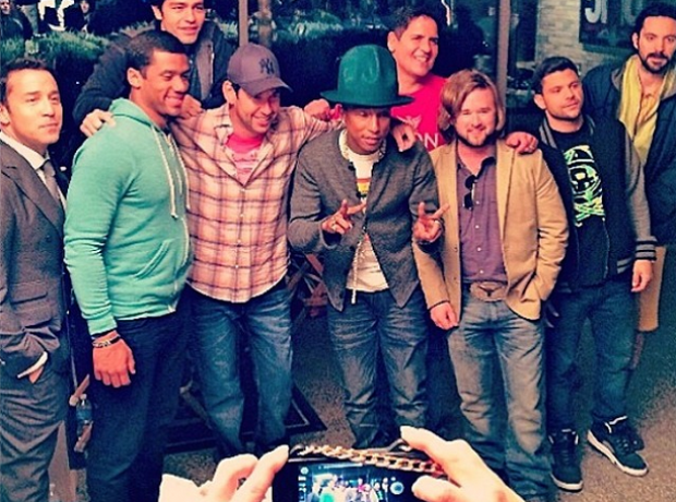 Pharrell with Entourage crew
