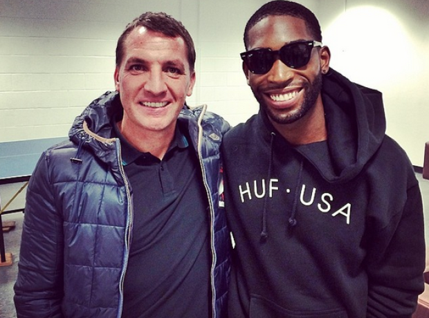 Tinie Tempah and Brendan Rogers