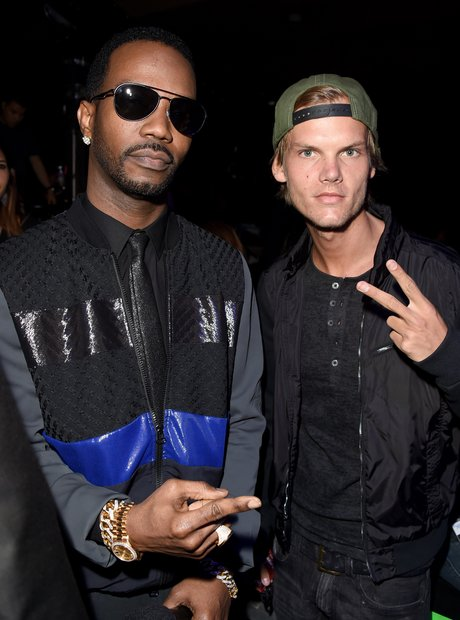 Juicy J and DJ Avicii backstage at the 2014 iHeart