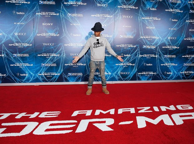 Pharrell The Amazing Spiderman 2 Premiere