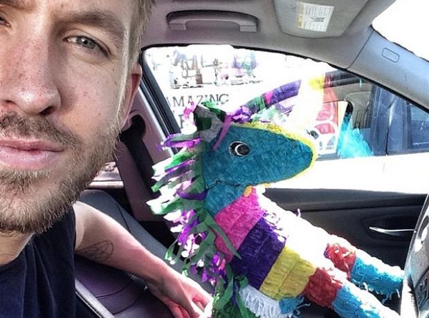 Calvin Harris Selfie Instagram