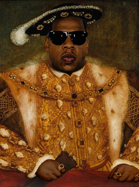 Jay Z as Henry VIII portrait