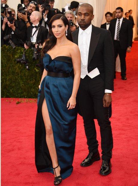 Kim Kardashian Kanye West Met Gala 2014