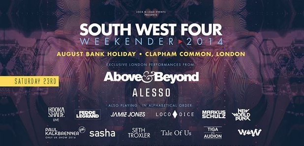 South West Four 2014 Line-Up Poster