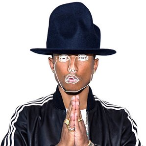 Disclosure Pharrell frontin artwork
