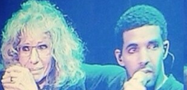 Drake and his mum OVO Fest 2014