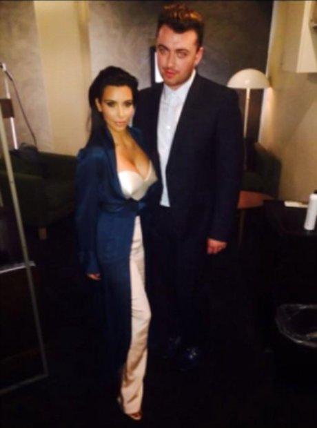 Sam Smith with Kim Kardashian
