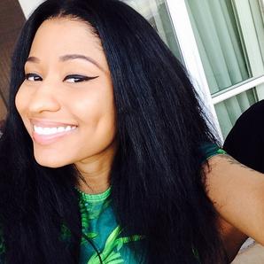Nicki Minaj smiling selfie