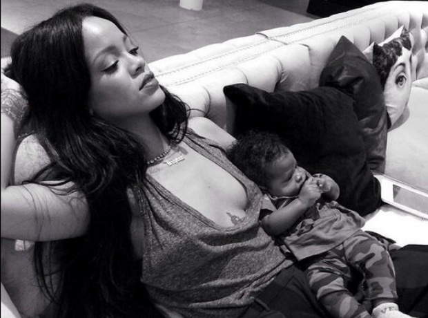 Rihanna with her niece