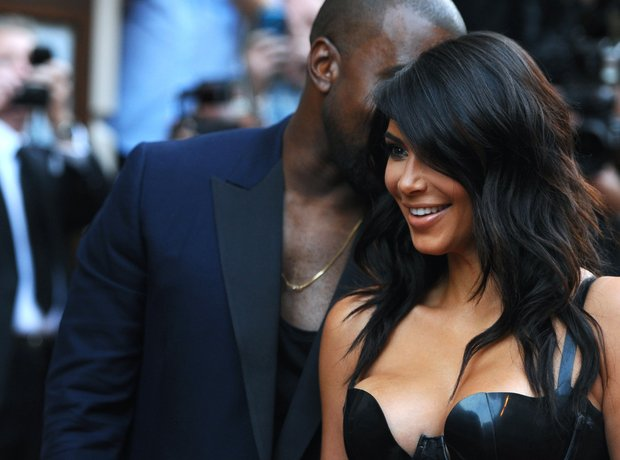 Kanye West and Kim Kardashian GQ Awards 2014