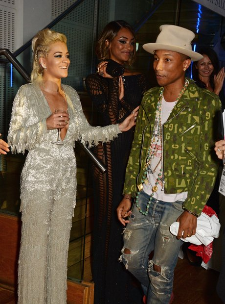 Rita Ora and Pharrell Williams