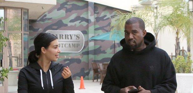 Kim Kardashian and Kanye West Exercise Clothes