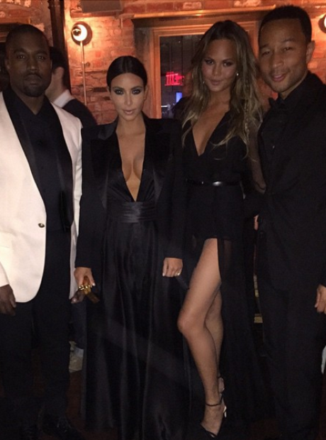 Kim Kardashian, Kanye West, John Legend and Chriss