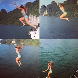 Beyonce Jumping Off Boat