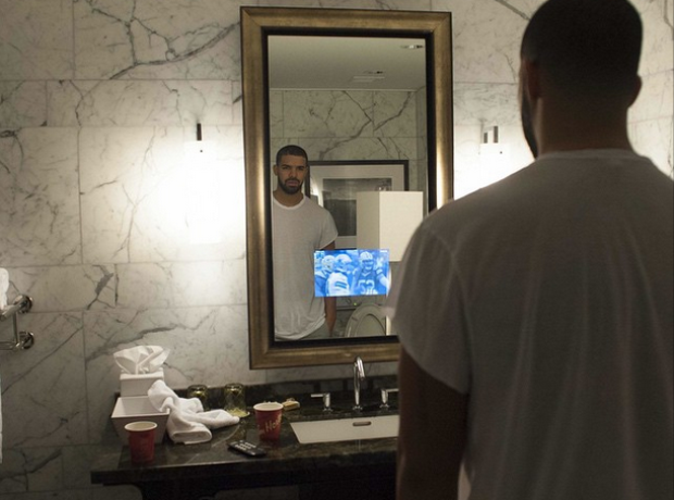 Drake TV in mirror