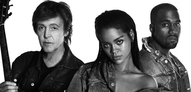 Rihanna, Kanye West And Paul McCartney