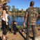 Image 9: Kim, Kanye and North Zoo
