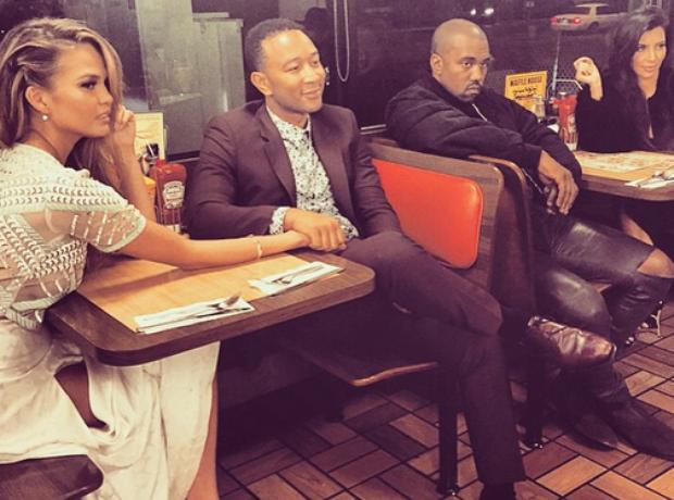 Chrissy Teigen John Legend Kanye West Kim Kardashi