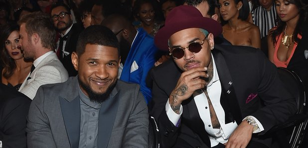 Chris Brown and Usher Grammy Awrads 2015