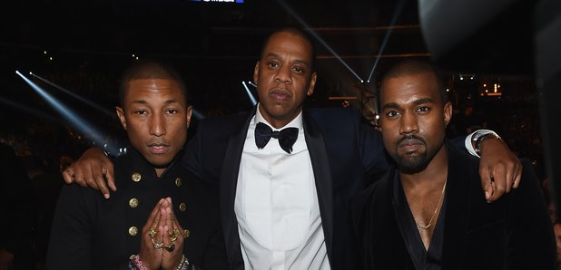 Pharrell, Jay Z and Kanye West Grammy Awards 2015