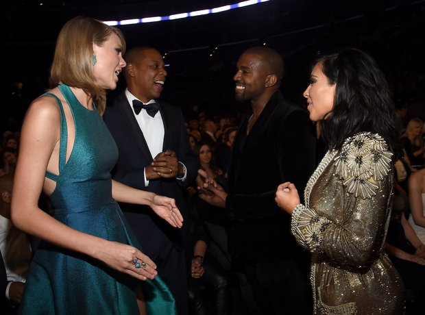 Taylor Swift, Jay Z, Kanye West and Kim Kardashian