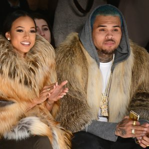 Karrueche Tran, and Chris Brown attend the Michael
