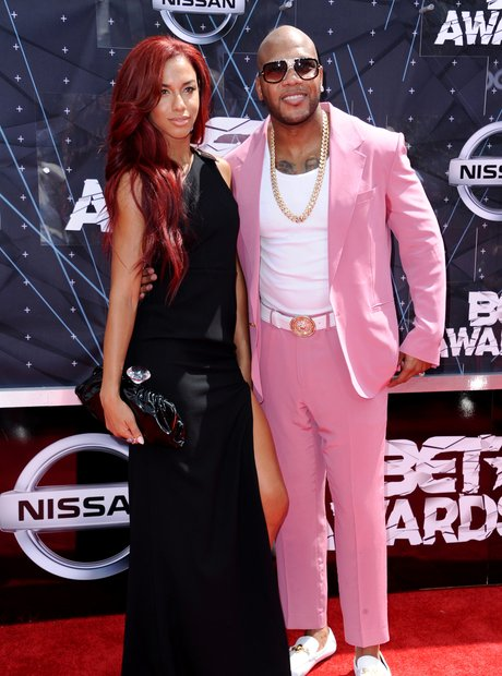 Natalie La Rose and Flo Rida BET Awards Red Carpet