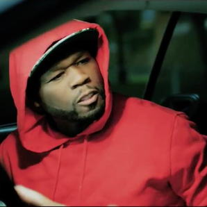 50 Cent sat in car