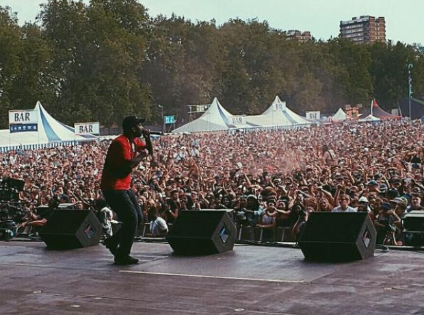 Skepta Performing On Stage