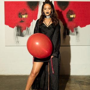 Rihanna at her album reveal