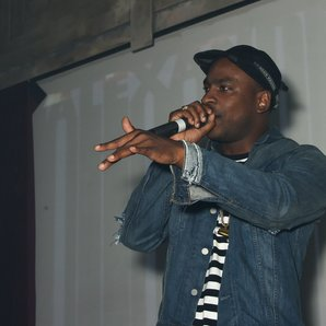 Skepta performing at an aftershow party
