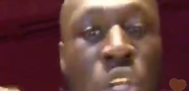 Stormzy rapping on Periscope