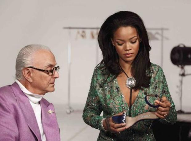 Rihanna with Manolo