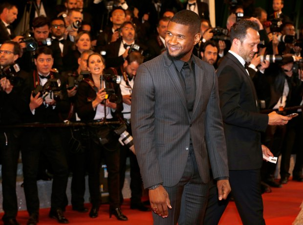Usher at the Hands of Stone premiere in Cannes