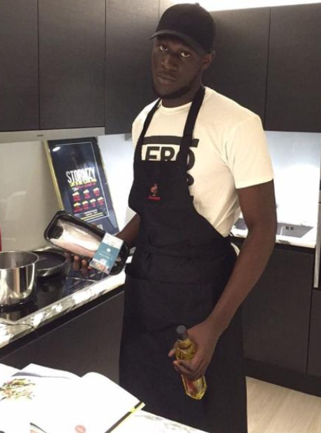 Stormzy in kitchen