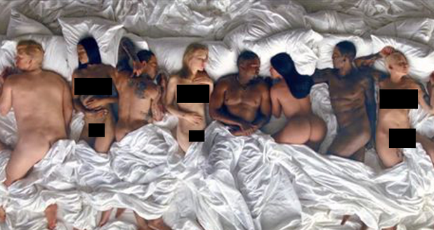 Kanye West 'Famous' Music Video Censored