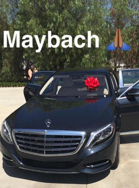 Kylie Jenner with her Maybach