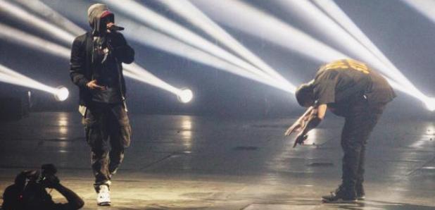 Drake and Eminem in Detroit