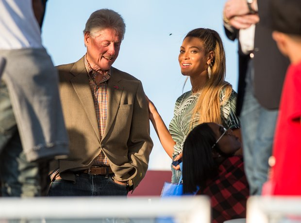 Bill Clinton and Beyonce