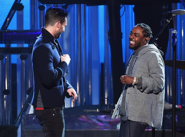 Adam Levine and Kendrick Lamar AMAs