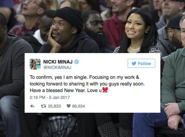 Nicki Minaj Meek Mill Split